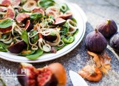 Fig, Chestnut and Onion Salad I Hemsley and Hemsley Summer Salad Recipes, Healthy Salad Recipes, Healthy Foods To Eat, Summer Salads, Healthy Eating, Savoury Recipes, Vegan Recipes, Dried Figs, Fresh Figs