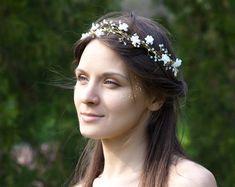 Diadema floral. Accesorios para el cabello nupcial por ArsiArt