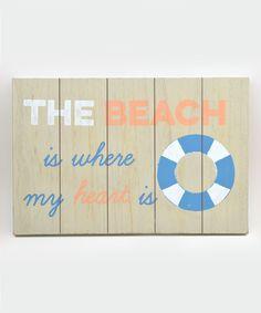'The Beach' Wall Sign