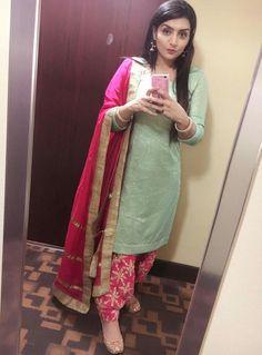 Patiala Suit Designs, Patiala Salwar Suits, Patiala Dress, Churidar, Banarasi Suit, Sharara Designs, Designer Punjabi Suits, Indian Designer Outfits, Designer Sarees