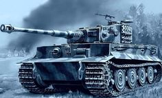 Panzer VI Tiger 1 in Winter Colours Ww2 Panzer, Luftwaffe, Tank Drawing, Tank Wallpaper, Military Drawings, German Soldiers Ww2, Tank Armor, War Thunder, Military Armor