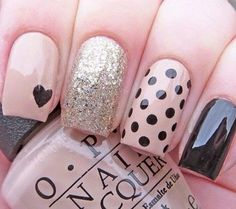 Generally, people thought nail art can be possible on long nails But actually, it's not so! Simple nail art designs for short nails are not only popular Frensh Nails, Easy Nails, Simple Nails, Cute Nails, Pretty Nails, Manicures, Nails 2016, Glitter Nails, Pink Nails