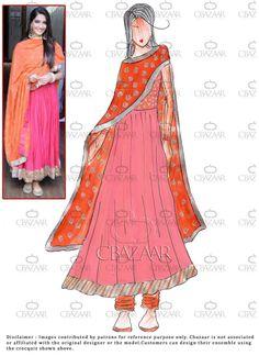 #Diy Pink #Georgette #SonamKapoor #Anarkali