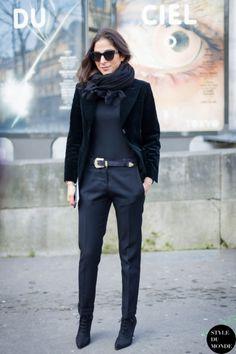 Paris Fashion Week FW 2014 Street Style: Capucine Safyurtlu