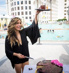 Fifth Harmony member Ally Brooke Hernandez celebrates her 21st Birthday at Planet Hollywood Resort Pool in Las Vegas, NV on July 10, 2014.