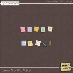 Forever After: Digital Scrapbook Bitty Alphas at Gotta Pixel. www.gottapixel.net/