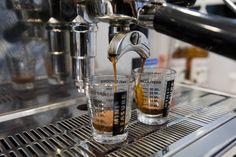 Espresso shots at Delysees.
