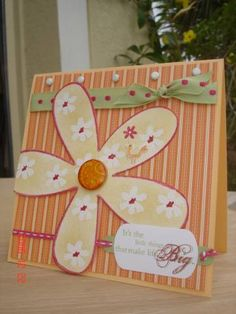 using Stampin Up Big Blossom