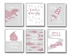 Nursery Decor, Wall Art Prints and Personalised Gifts by InspiredFlamingo Baby Girl Nursery Decor, Nursery Wall Decor, Nursery Prints, Playroom Decor, Kids Decor, Decor Ideas, Princess Nursery, Pink Wall Art, Art Kids