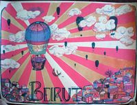 Beirut Poster - Wiltern Theater, Los Angeles - Gina Kelly