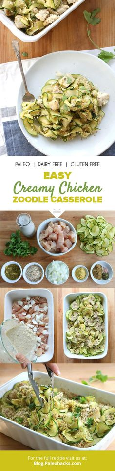 tender chicken and zucchini noodles are tossed in a spicy coconut sauce and finished with a