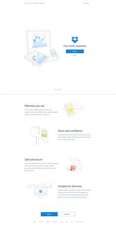 Dropbox - landing page