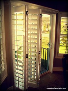 Create some privacy or watch the kids play in the backyard with some slidder shutters