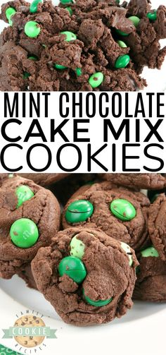 chocolate marshmallow cookies Mint Chocolate Cake Mix cookies are soft, chewy and made with only 4 ingredients! So easy to make these deliciously mint and chocolate flavored cake mix cookies. Chocolate Marshmallow Cookies, Chocolate Chip Shortbread Cookies, Chocolate Cake Mixes, Chocolate Flavors, Mint Chocolate, Cake Mix Cookie Recipes, Best Cookie Recipes, Yummy Cookies, Dessert Recipes