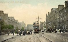 The Foot of Leith Walk, Leith  -  A Valentine Postcard, photographed 1902