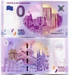 Castelo de Guimares Portugal 0 Euro Souvenir Note 2017 Series 1 Guimaraes Castle