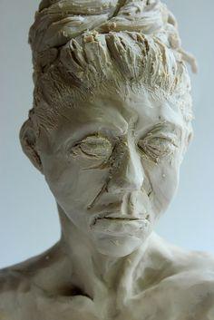 Clara Lieu, RISD Project Open Door, Senior Portfolio course, Portrait Sculptures, Plastilene clay, 2016.