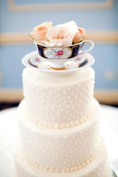 my tea cup cake topper - be creative with your cake topper idea! - katelyn james photography