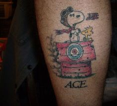Snoopy red baron tattoo 39 s by steven embrey pinterest for Red baron tattoo
