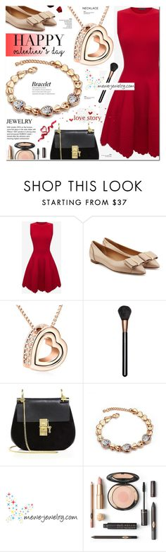 Date Night - Mewe Jewelry 3 by cly88 on Polyvore featuring Alexander McQueen, Salvatore Ferragamo, Chloé, MAC Cosmetics and Tiffany & Co.