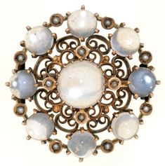 The ancient Romans and Greeks believed moonstone was created from bits of the actual moon. In India it is believed that one can gain clairvoyant properties by placing a moonstone in your mouth during the full moon! This period brooch is set with nine high domed moonstones which are typical of the late Victorian period. It is modestly estimated at £20-40. Lot 39 in our next Antique & Collectors auction of 4th March 2020 from 10:30am. #moonstone #moonstonejewelry #victoriana…