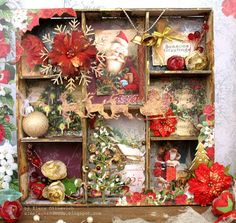 eleele-handmade: Christmas Shadow Box