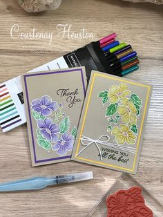 Bags That One!: Stampin' Up! Color Your Season Limited Release Flower Stamp, Flower Cards, Thank You Wishes, Card Sketches, Autumn Theme, Paper Cards, Stampin Up Cards, Making Ideas, Birthday Cards