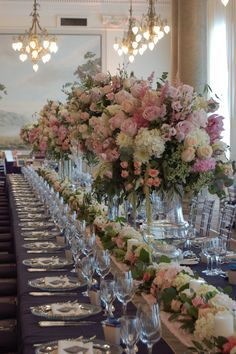 Planet Flowers: Floors Castle followed by The Balmoral Hotel - Long Tablescape