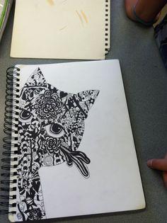 Emily's zen tangle cat!
