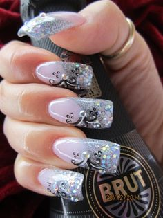 Nail Art Images New Fresh 18 Best Happy New Year Nail Art Designs Ideas Stickers 2015 2016 11 Long Nail Designs, Black Nail Designs, Nail Art Designs, Nails Design, New Year's Nails, Love Nails, Hair And Nails, Nails 2016, Gorgeous Nails