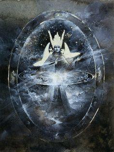 Cosmogonic sketch by Yaroslav Gerzhedovich, via Flickr