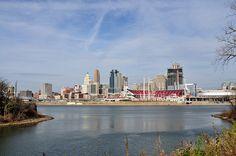Cincinnati Skyline shot at Licking river.