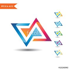 Letter VA logo_This stunning logo design was created by AMCstudio
