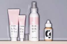 Glossier Phase 1 Set with skin tint in the lightest shade - https://www.glossier.com/#!/products/glossier-phase-1