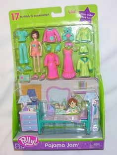 New! Polly Pocket Pajama Jam Fashion Pack LILA 17 FASHIONS & ACCESSORIES #B7093