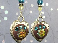 Shade Garden Earrings Instructions - made with small picture frame and crafters epoxy clay.