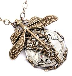 Mechanical Forest Steampunk necklace steampunk by Federikas, $133.00 How cool is that?