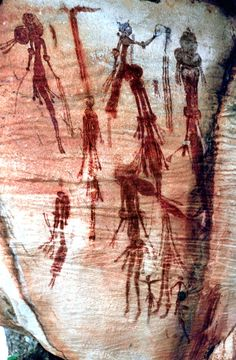 2010 Bradshaw Gallery NW KImberley by Robin Hutton Paleolithic Art, Cave Drawings, Aboriginal Painting, Aboriginal Culture, Art Premier, Australian Art, Indigenous Art, Ancient Aliens, Ancient Artifacts