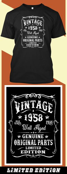 Vintage 60 - Limited edition. Order 2 or more for friends/family & save on shipping! Makes a great gift!