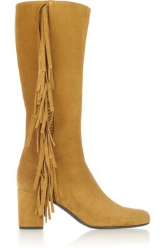 SAINT LAURENT Fringed suede boots £585 http://www.theoutnet.com/products/512399