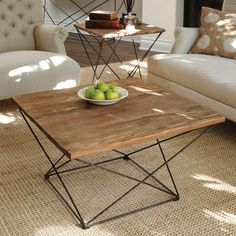 Eye catching and airy the Benton Coffee Table is inspired by classic clean lines, this unique table is a beautiful blend of reclaimed Fir wood and iron to make