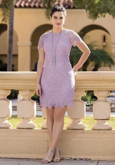 Felicity and coco floral lace shift dress