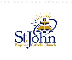 Check out this design for St. John #Church, designed by TheBusinessLogo.com