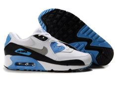 2014 New Air Max 90 Mens Shoes Cheap On Sale White Black Gray Blue
