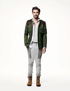 military-style jacket?