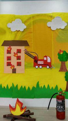Fire Safety Crafts, Community Helpers, 4 Kids, Sunday School, Preschool Activities, Crafts For Kids, Classroom, Handmade, November