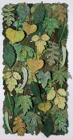 "herminehesse: "" Leaf Flakes by Sharon Nemirov (Yes, these are fabric leaves) . herminehesse: "" Leaf Flakes by Sharon Nemirov (Yes, these are fabric leaves) . herminehesse: "" Leaf Flakes by Sharon Nemirov (Yes, these are fabric leaves) "" Felt Flowers, Fabric Flowers, Fabric Art, Fabric Crafts, Hanging Fabric, Leaf Crafts, Landscape Quilts, Leaf Art, Wool Applique"