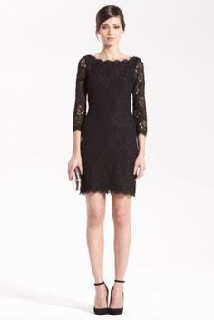 Lace cocktail dress. DVF Zarita dress does wonders, you'll always get compliments