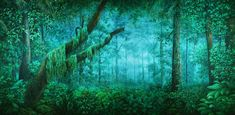 Tropical Forest Daybreak Backdrop by TheatreWorld provides the perfect setting for all film or live productions. Jungle Scene, Night Forest, Tropical Forest, Fairy Tales, Backdrops, Earth, Fantasy, Wall Art, Landscape