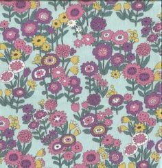 tissu frou-frou - Collection LES FLEURS - Celadon
